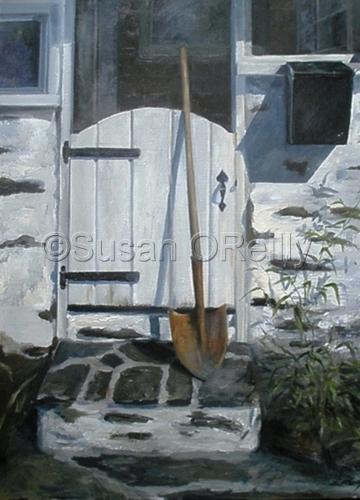 Cottage Entrance with Shovel