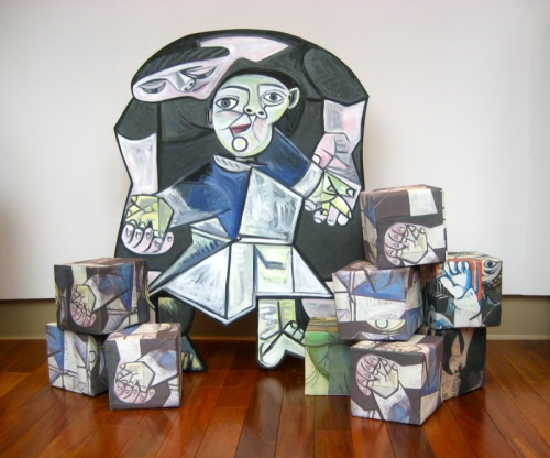 AFTER PICASSO/CUBES R US by Susan Sills cutouts