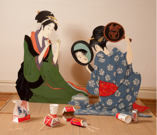 WHAT DO GEISHAS HAVE FOR LUNCH? by Susan Sills cutouts