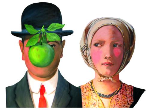 M. MAGRITTE ET MLLE. DELATOUR by Susan Sills cutouts
