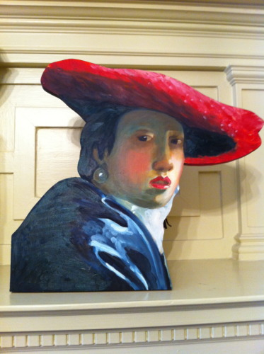 AFTER VERMEER/ LADY IN A RED HAT