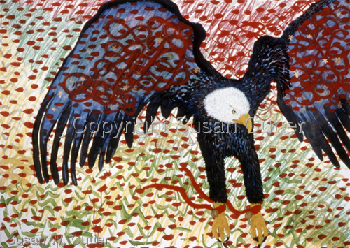 Hovering Eagle,  ©1999 by Susan Cutter