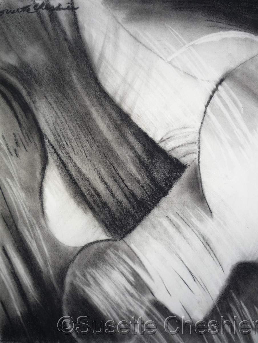 Abstract Charcoal on Paper No. 3 (large view)