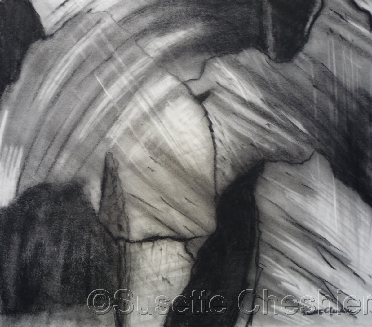 Abstract Charcoal on Paper No. 4 (large view)
