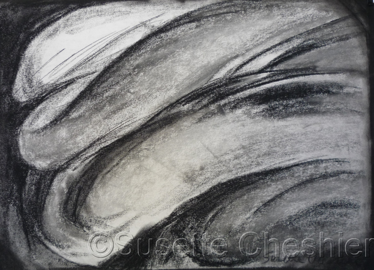 Charcoal Drawing of Ovals (large view)