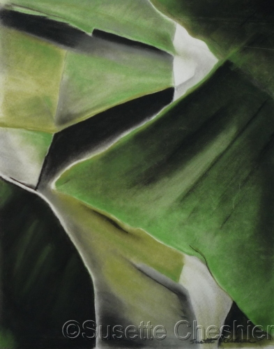Green and Black Abstraction