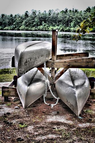 Dry Docked Canoes