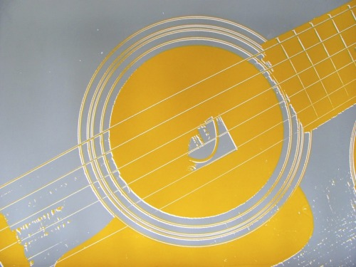 Guitar Strings Gray and Ochre