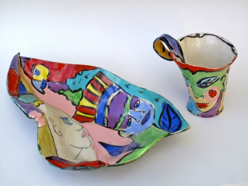 Parrot Platter & Mug