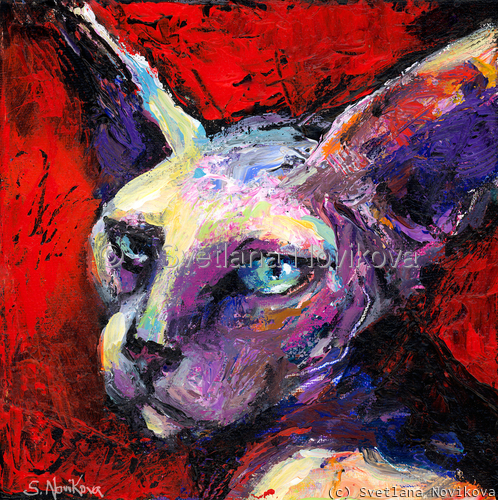 Sphynx Cat painting #47 Svetlana Novikova (large view)