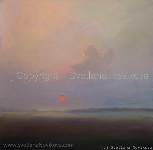 Sunset landscape Svetlana Novikova (large view)
