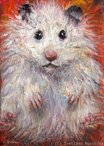 cute hamster painting by Svetlana Novikova (large view)