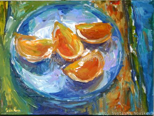 oranges fruit still life (large view)