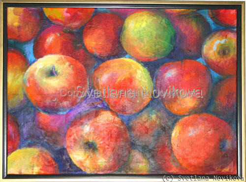 Vibrant Apples Painting (large view)