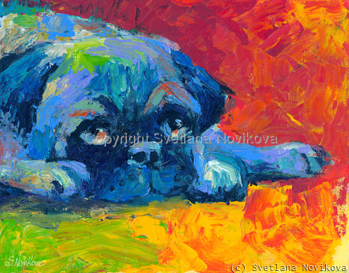 Pug #3 painting Giclee Print (large view)