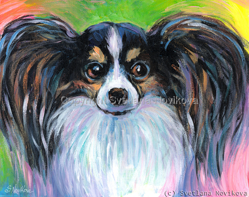 Papillon Dog painting Giclee Print (large view)