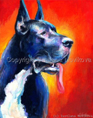 Great Dane #4 painting Giclee Print (large view)