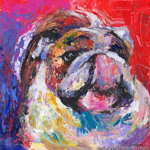 Bulldog #2 painting Giclee Print (large view)