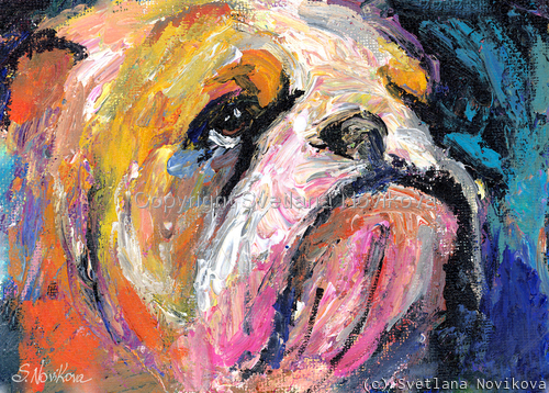 Bulldog  #3 painting Giclee Print (large view)