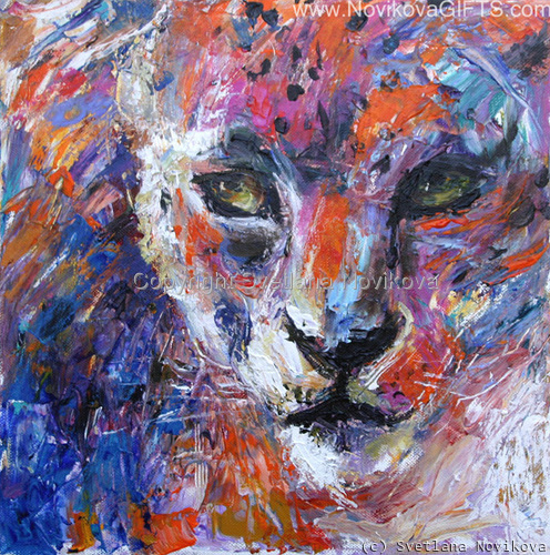 Wildlife cheetah leopard art (large view)