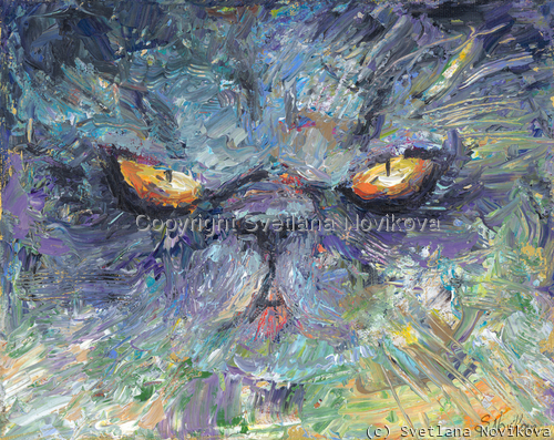 Intense Persian cat painting Giclee Print (large view)