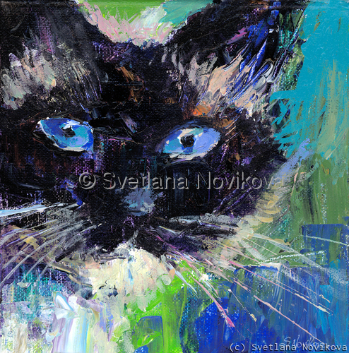 Ragdoll cat painting Svetlana Novikova (large view)