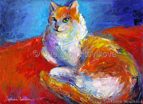 Orange tabby cat Svetlana Novikova (large view)