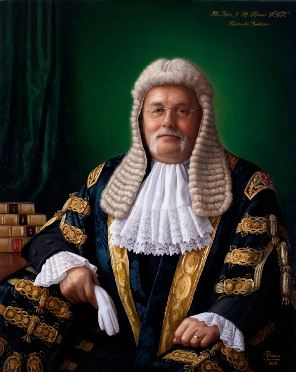 James Anthony Brown OBE, Speaker of the House of Keys (large view)