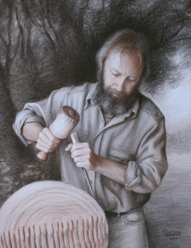 The Wood Sculptor (Portrait of Gavin Carter)