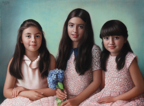 Portrait of Myla, Amira and Hanna.