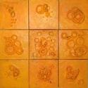 Orange Canvas Square