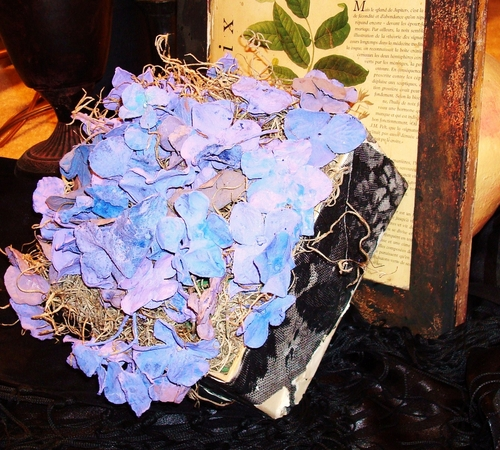 Purple Hydrangea in a Box