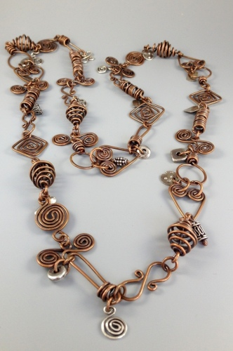 Wire Work and Charm Necklace
