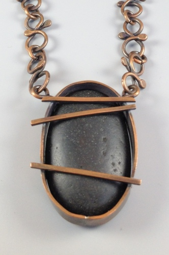 Black River Rock and Copper Necklace