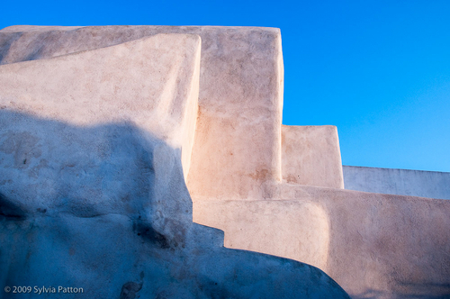 GEORGIA O'KEEFE MOMENT ON SANTORINI by Sylvia Patton Photography