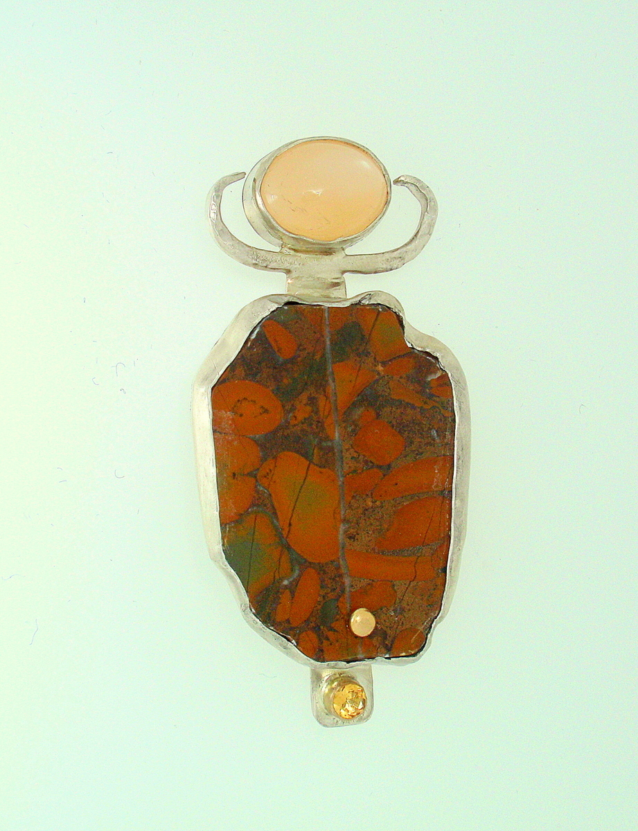 MP-48 Moonstone, Jasper, Citrine, 14kt Gold, Silver (large view)