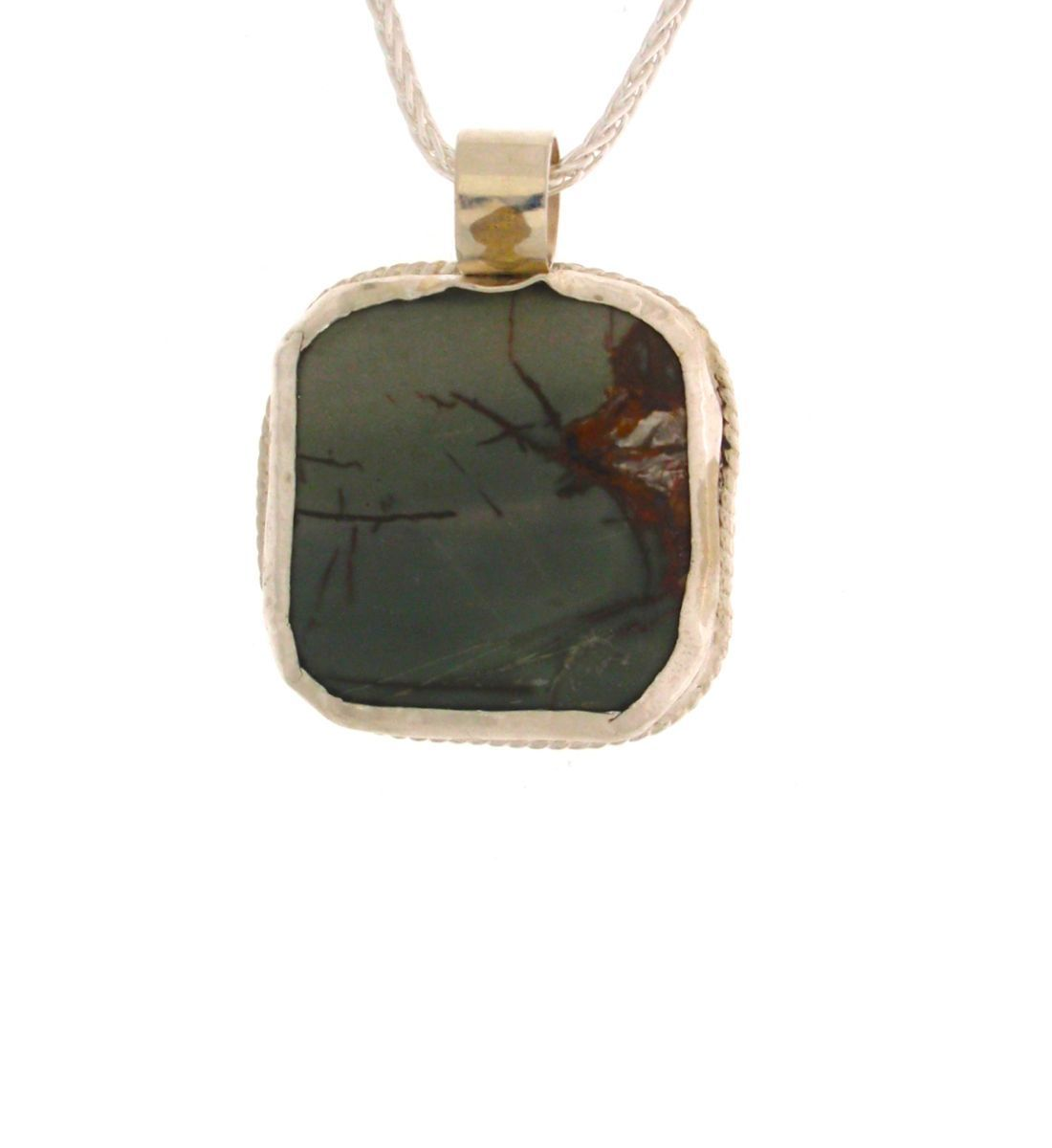 323-MN Pendant Picture Jasper Silver (large view)