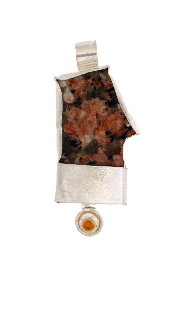 337- MN Jasper from Scotland, Silver,!4kt Gold Citrine (large view)