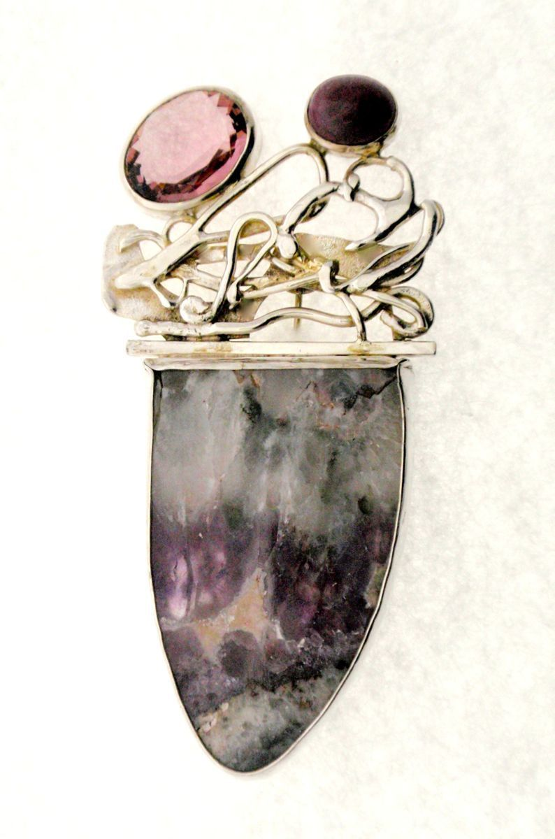 MP-37 Quartz, Light Amethyst, Star Ruby, Silver (large view)