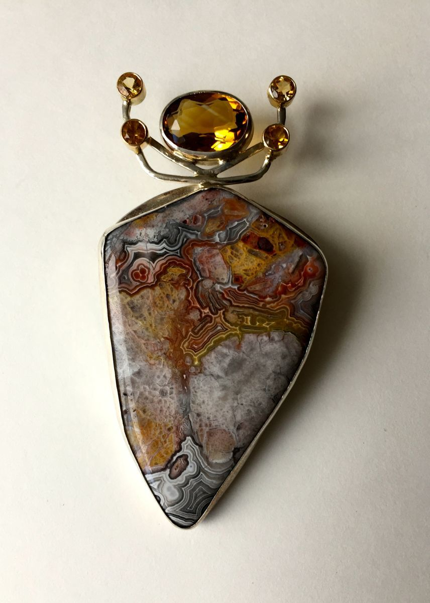 MP - 41 Citrines, Jasper, 14Kt Gold (large view)