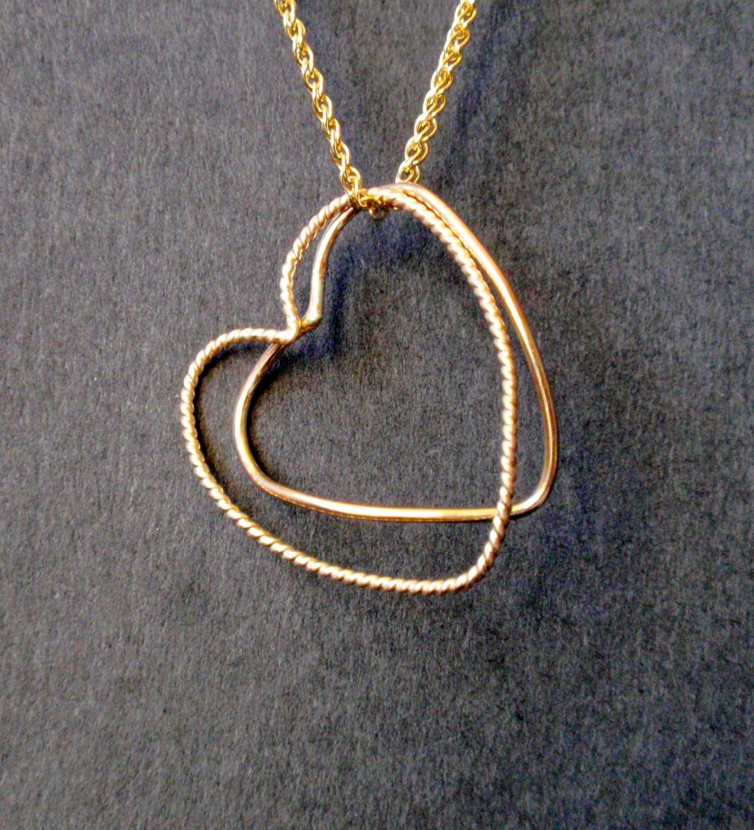 331 - MN Two Hearts, Gold Filled (large view)