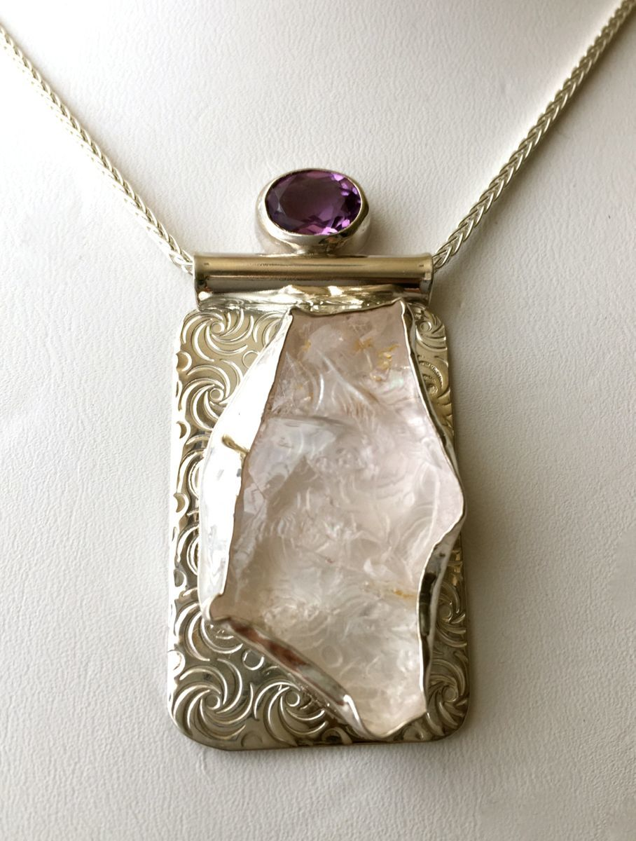 349-MN Rose Quartz, Amethyst, Silver (large view)