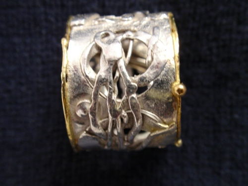 RS-11 Ring Silver and 18kt Gold fused