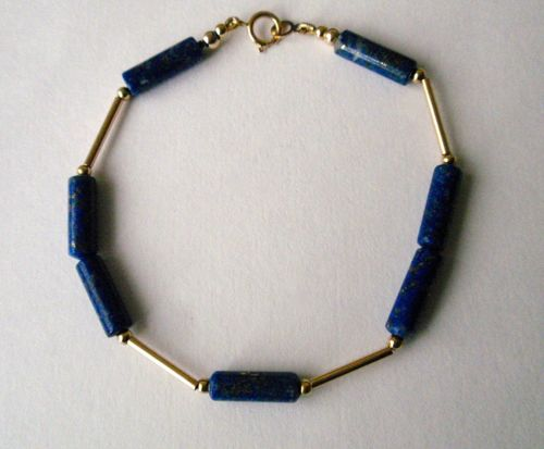 BR- 17 Lapis Lazuli, 14Kt, Gold