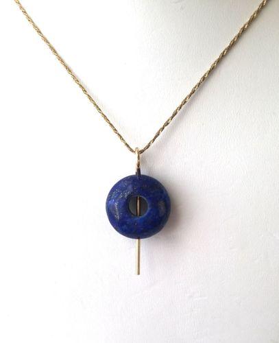 475-MN Lapis Lazuli, 14Kt Gold by Sylvia's Design Jewelry