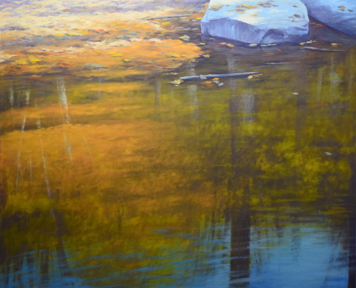 Shallow Autumn Pond (large view)