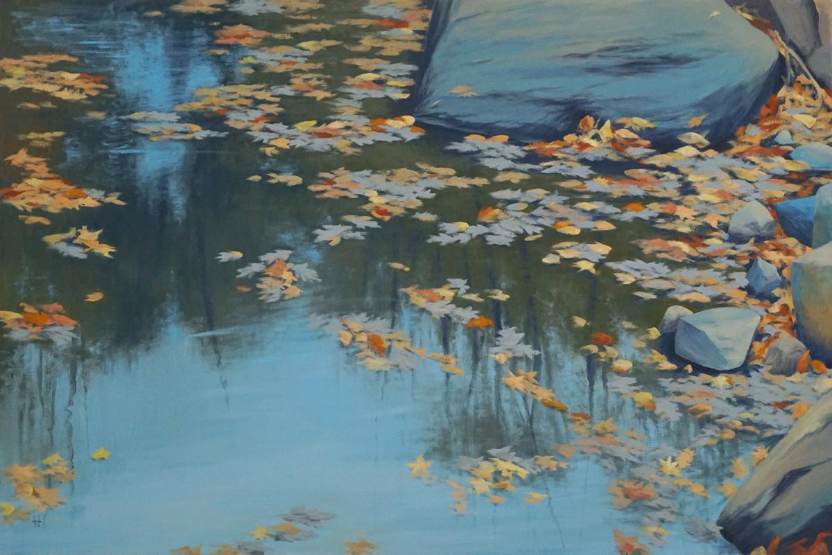 Azure Autumn Pond (large view)