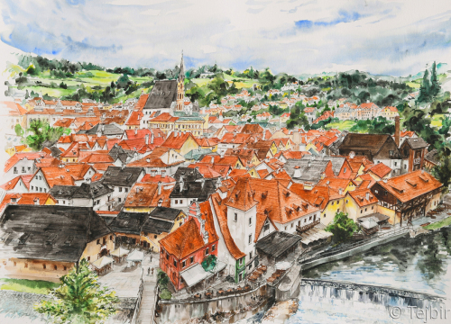 Red roofs of Cesky