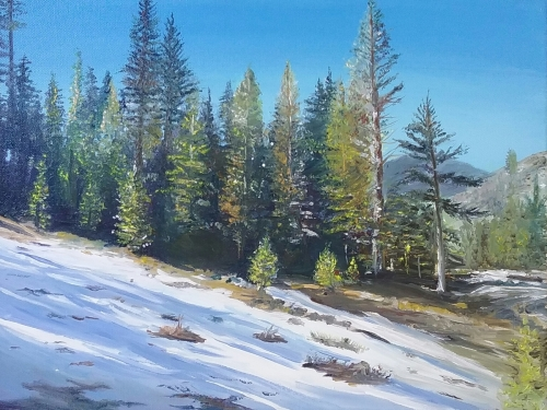 Mountain Top Snow by Tané Miller Fine Art