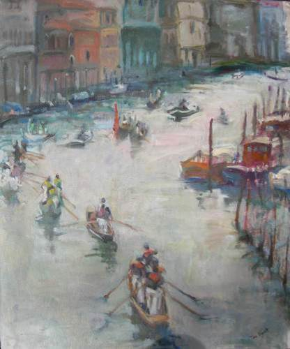 Practice for the Regatta, Venice